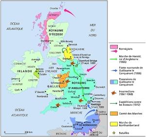 Carte de la conquete normande